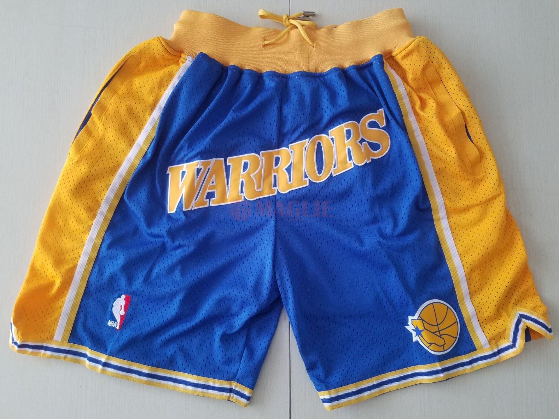 offerte Pantaloni Basket Golden State Warriors Curry Blu a Poco Prezzo