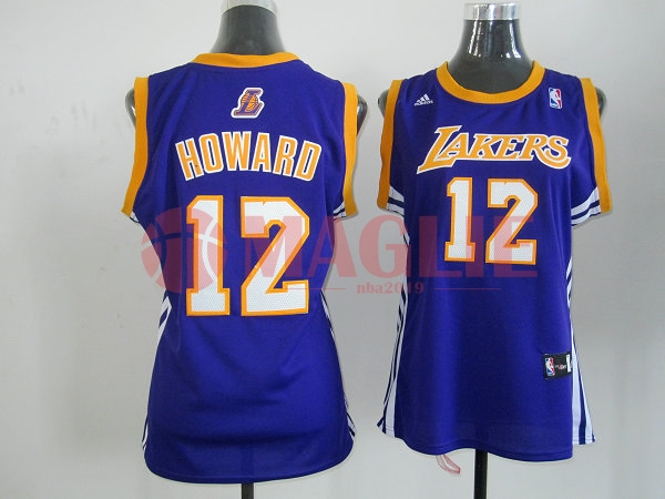 offerte Maglia NBA Donna Los Angeles Lakers NO.12 Dwight Howard Blu a Poco Prezzo